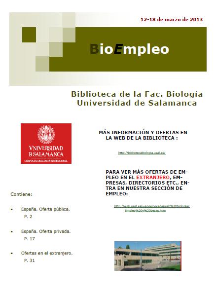BioEmpleo 18 marzo