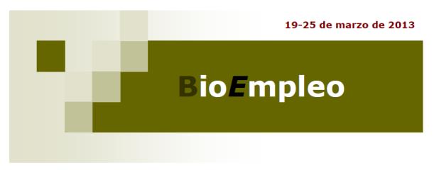 BioEmpleo 25 marzo
