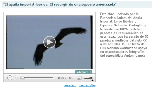 Video Aguila imperial
